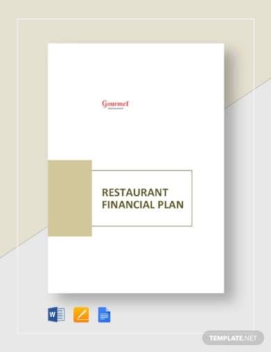 restaurant financial plan