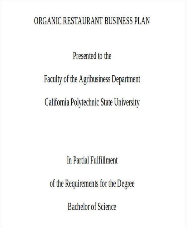 Restaurant and Catering Business Service Plan