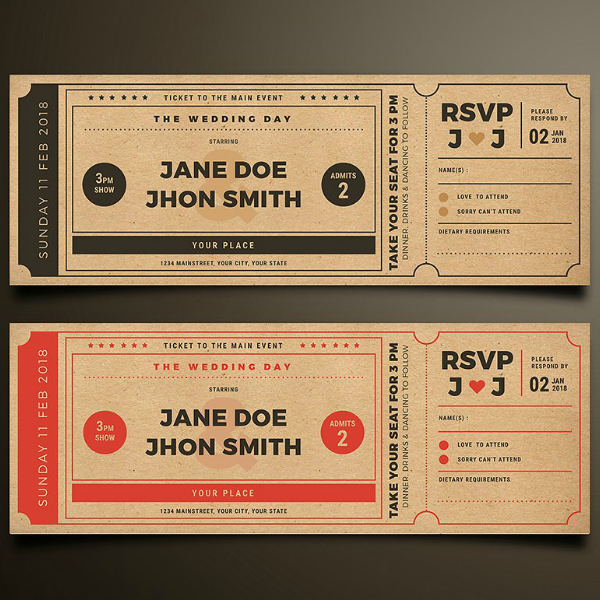 13 vintage ticket designs templates psd ai indesign for Ticket template for mac