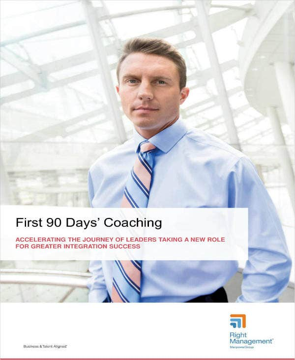 sample 90 day plan for new manager