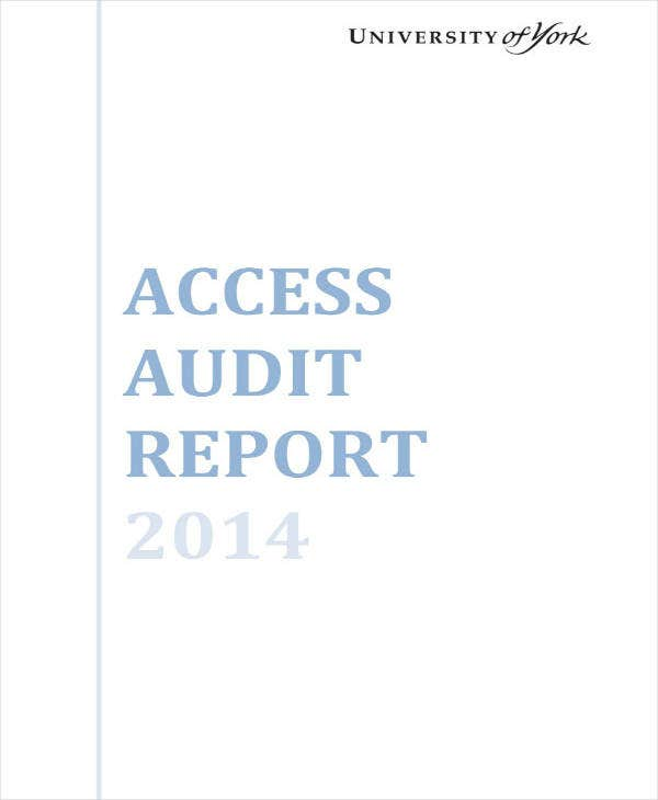 Sample Access Audit Report Example