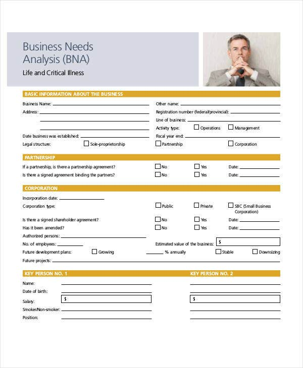 5 Business Needs Analysis Templates Pdf Free Premium Templates