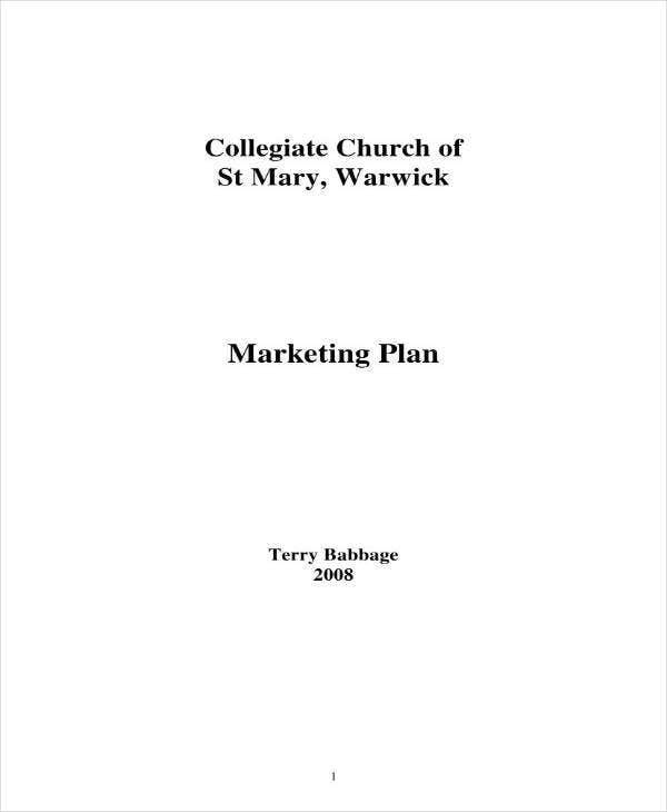 sample church marketing plan