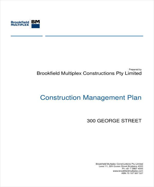 Sample Construction Project Management Plan