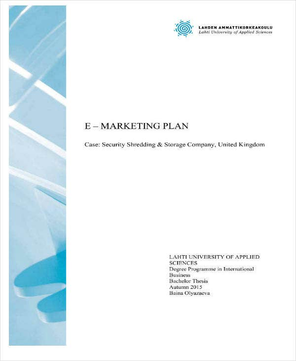 Sample Email Marketing Plan