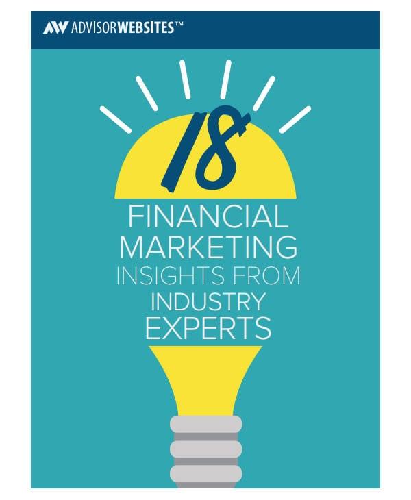 sample financial adviser marketing