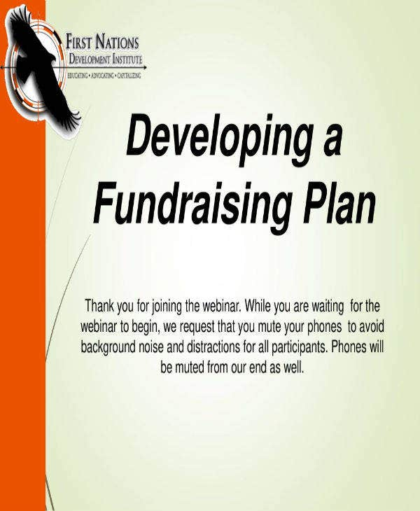sample fundraising plan example