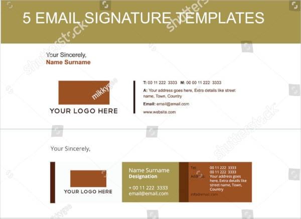 Sample HR Email Signature