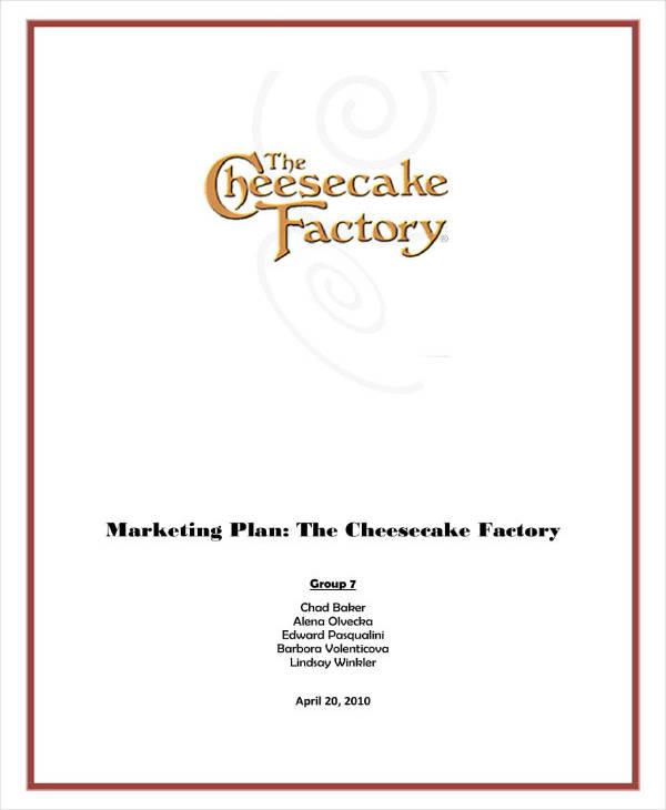 Sample Restaurant Marketing Action Plan