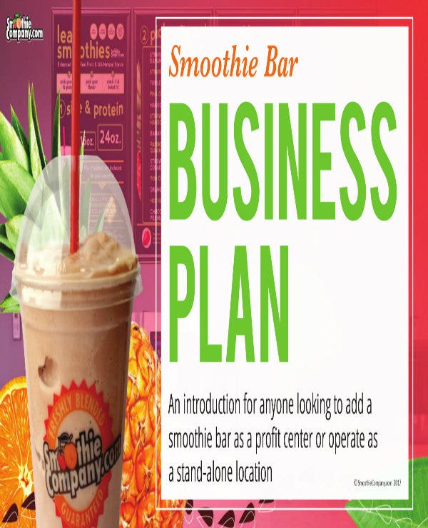 sample smoothie juice bar business plan 01