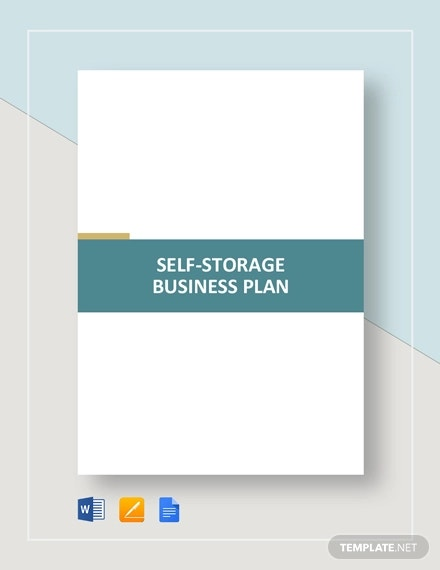 self storage business plan template