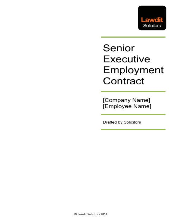 senior executive employee agreement 01