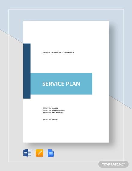 service plan template