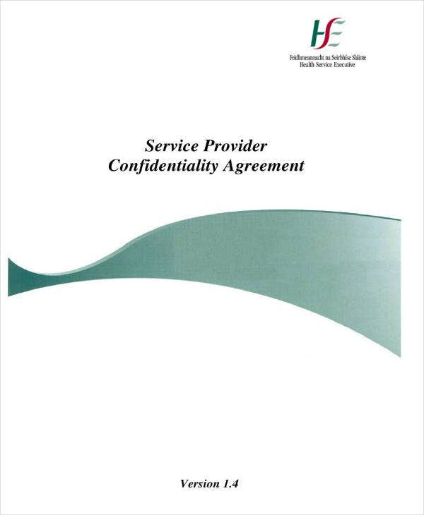 service provider meeting confidentiality agreement