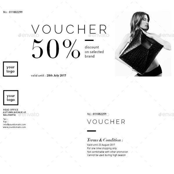 shopping voucher card indd template