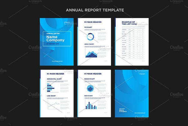simple annual report cover template