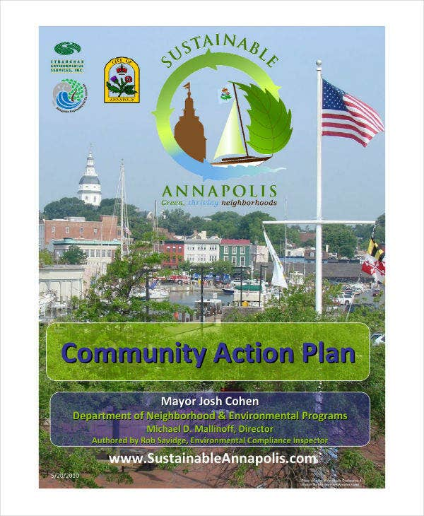Simple Community Action Plan Sample