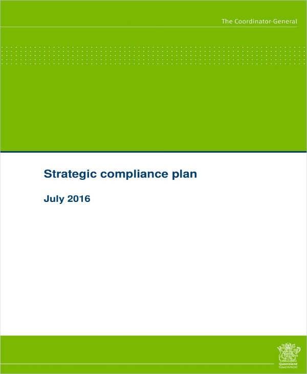 simple compliance strategic plan