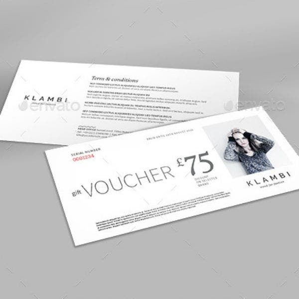 simple gift voucher indd template