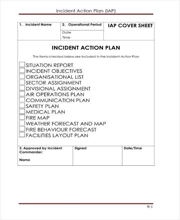 simple incident action plan template