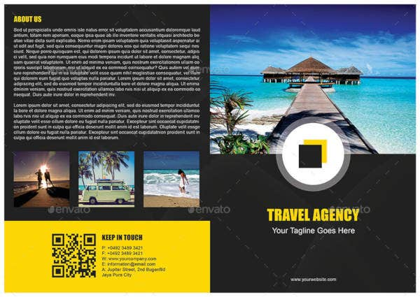 Simple Modern Travel Brochure Template
