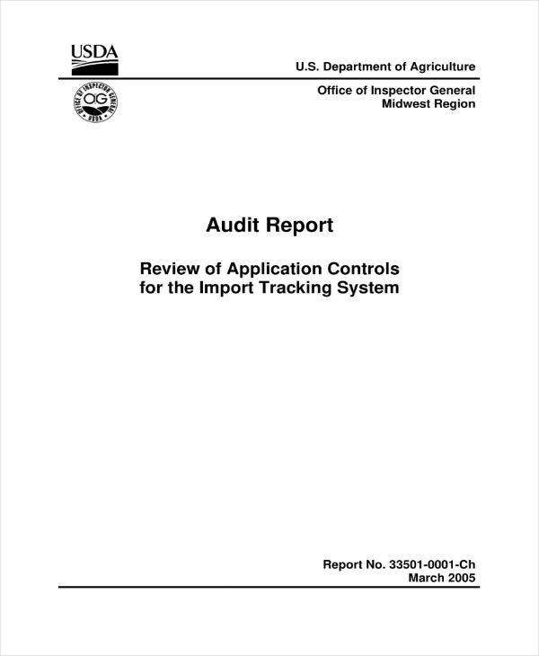 Simple Monthly Audit Report