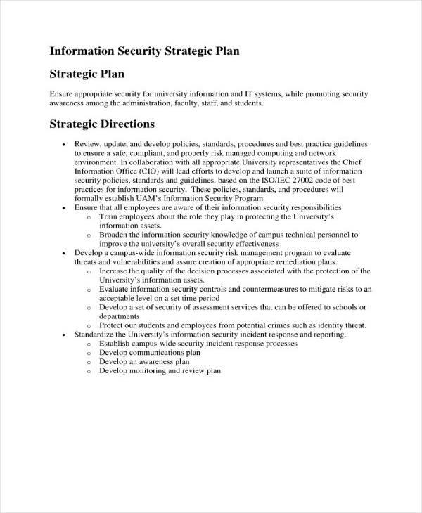 Simple Security Strategic Plan