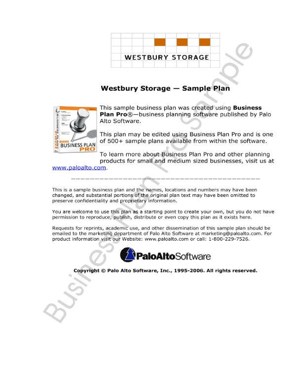 1 self storage business plan templates pdf free premium templates simple self storage business plan 01 cheaphphosting