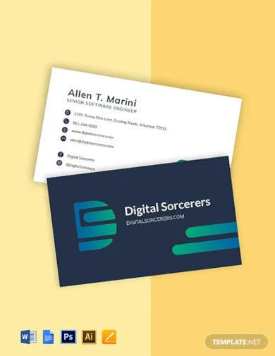 20+ Engineer Business Card Templates - AI, Word, PSD ...