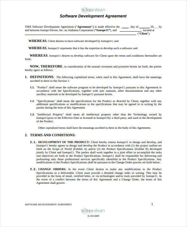 10 software development and license agreement templates pdf