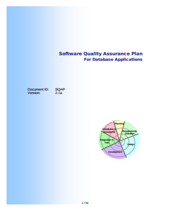 software quality assurance plan sample