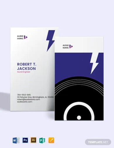 sound engineer business card template