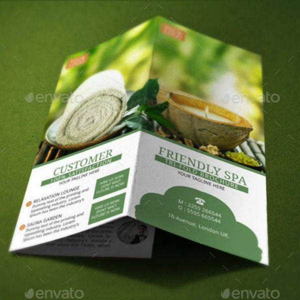 spa resort brochure template1