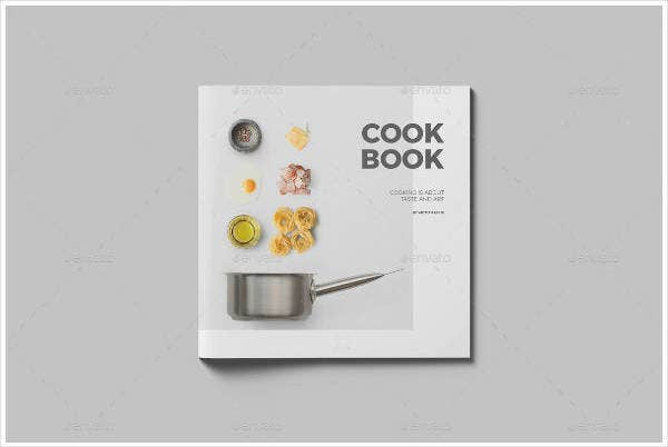 square recipe cookbook design