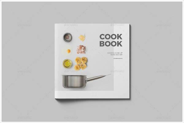 Square Recipe Cookbook Design