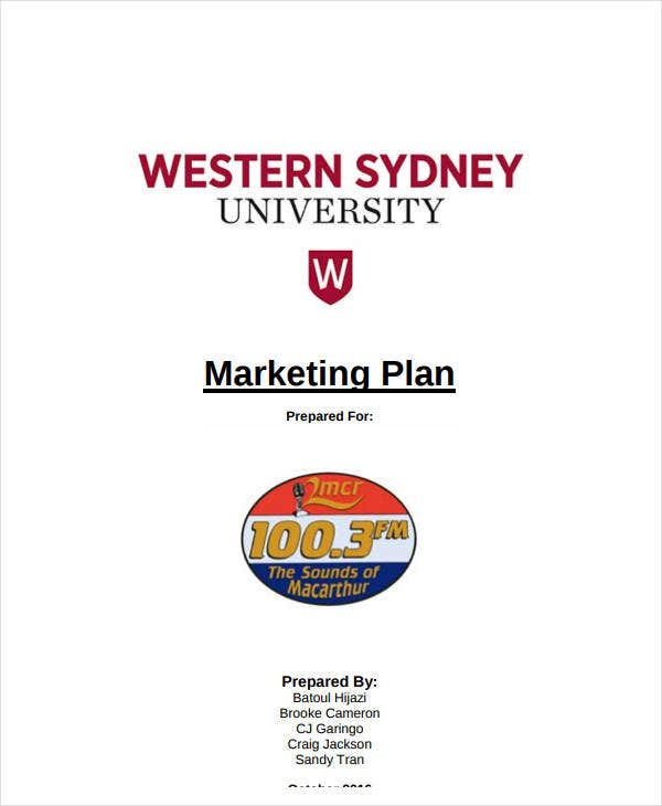 standard b2b business marketing plan