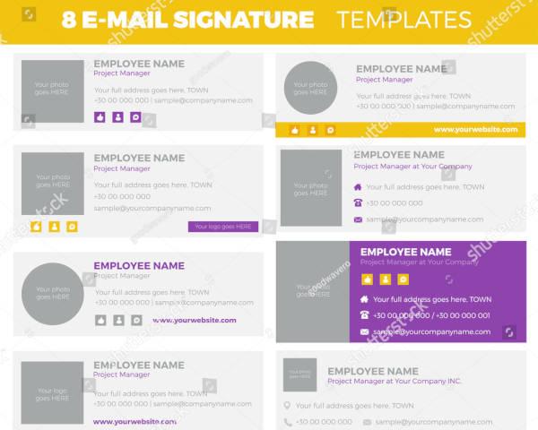 standard email signature bundle