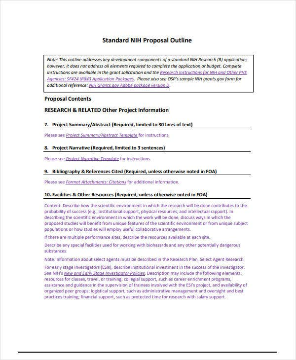 standard rfp template - 13 topic proposal outline templates pdf free