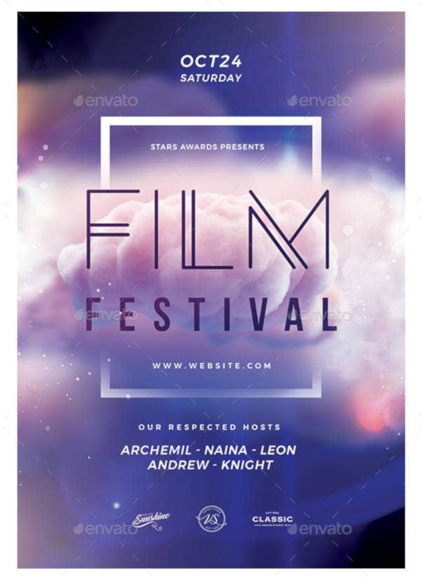 15 Film Festival Flyer Templates And Designs Psd Ai Free