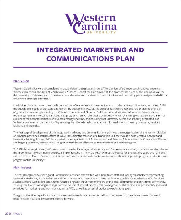Strategic Integrated Marketing & Sales Plan