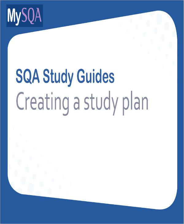 Study Plan Example