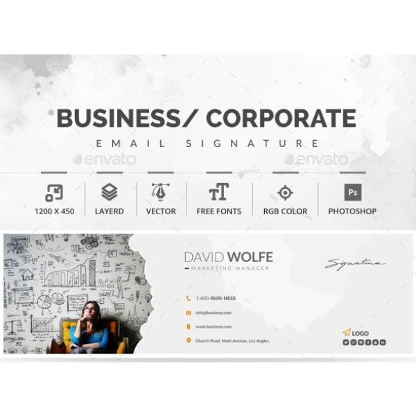 stylish marketing manager email signature template