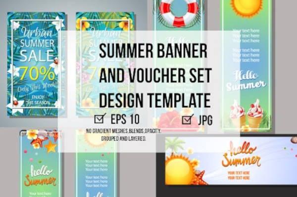 summer banner and voucher set1