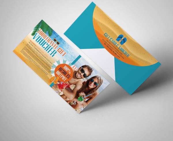summer tour travel gift voucher template