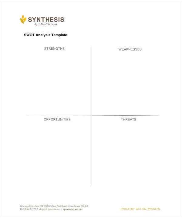 Synthesis SWOT Analysis Template