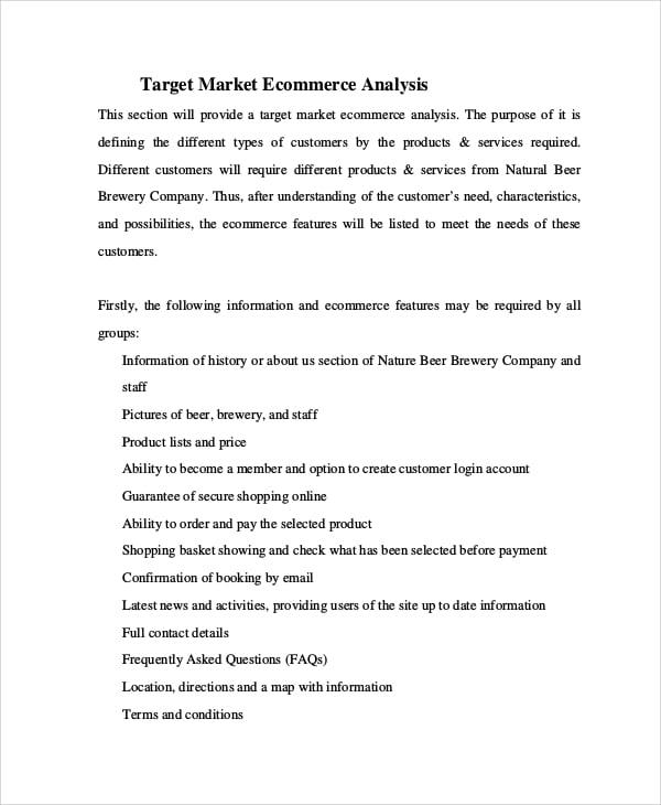 target market ecommerce analysis