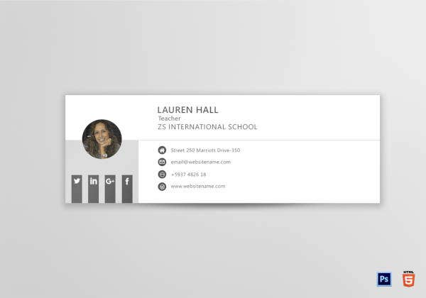 3 education email signature designs templates psd for Free email signature template