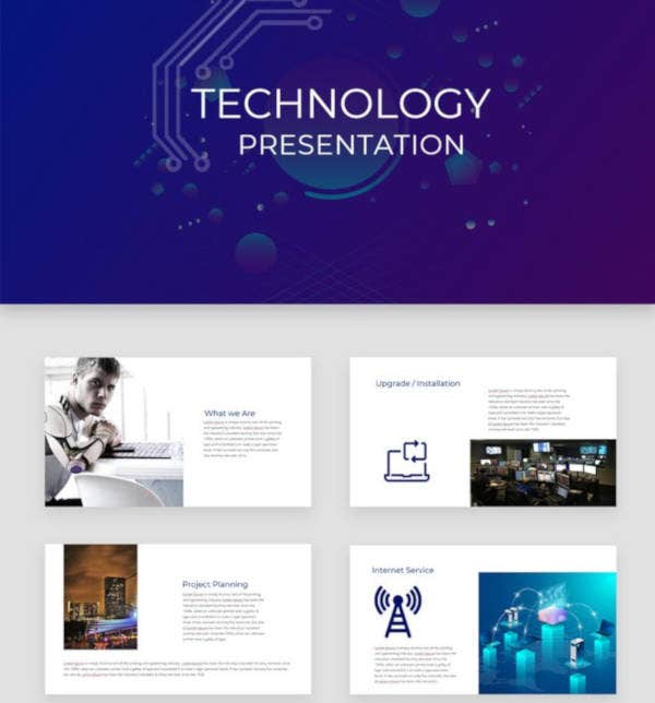 technology presentation template