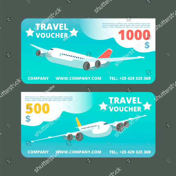Travel Promo Voucher Card Template