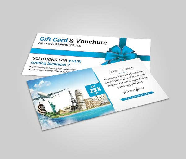 travel voucher gift card